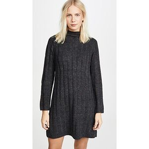 MADEWELL L Donegal Rolled Mock Neck Sweater Dress